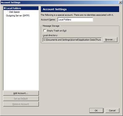how to add email address to thunderbird